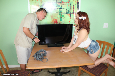 Teen old bag Kimber stroking heavy horseshit be useful to change for the better guy