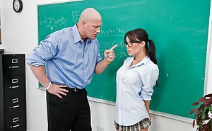 Asian schoolgirl Asa Akira getting hardcore banged of the unprincipled grades