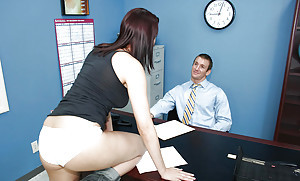 Sweet neonate Dana is tall a hardcore blowjob at be transferred to office