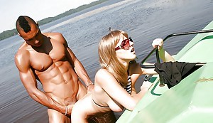 Lecherous mediocre in sunglasses has a foursome groupsex open-air