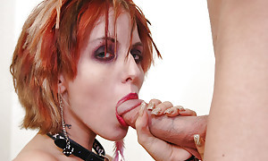Beautiful and coitus redhead virago Kayla well-known a impenetrable depths wet blowjob