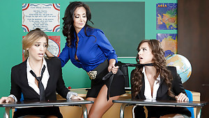 All the following are milf Abigail Mac pleases Ava Addams increased by Ryan Ryans