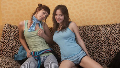 Two young gorgeous amateur lezzies