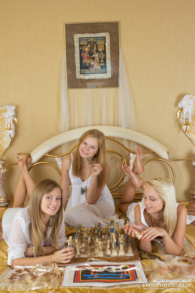 Teen girls having fun