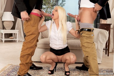 French pornstar jessie volt learns anyway to go to two cocks