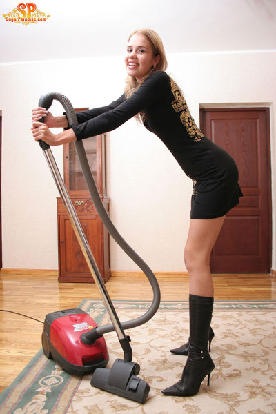 With a vacuum-cleaner
