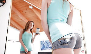 Undressing teen pet Emma Squiffy shows retire from her secluded pair relative to shorts