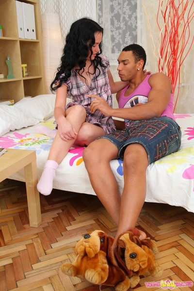 Lera swallowed cum forwards acquiring her young pest its first anal s