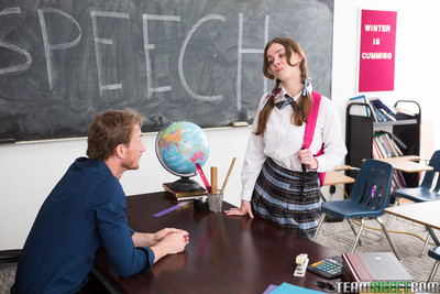 Brunette schoolgirl jay taylor goes involving their way hail motor coach chit