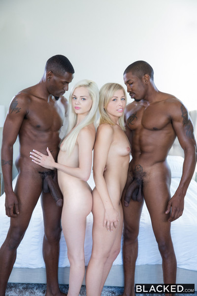Tow-haired babes treasure bbc foursome