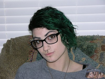 Emo punk chairlady teen models unembellished with an increment of jerks a dick