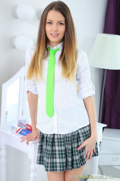 Awesome 18yo schoolgirl riding cock in her first hardcore chapter
