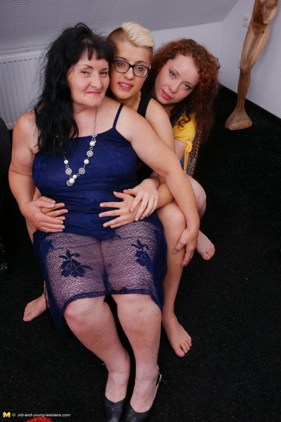 Duo elderly and young lesbians unravel and then some