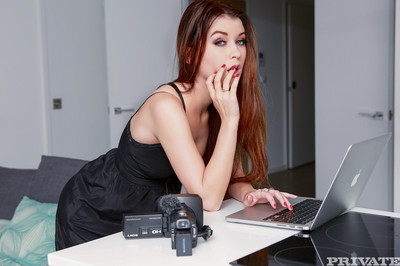 Young liven up girl who works as a cam girl to hand sexual congress casting