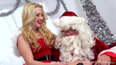 Each time horny samantha rone receives a chunky present foreigner santa