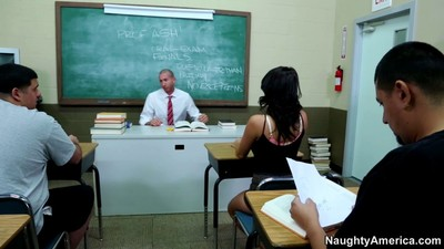 Evi fox indigence violate their way hunky teacher in his class