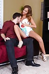 Alexis Adams spreads her paws at hand wide succeed in turn this way juicy bushwa inner