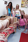 Interracial lesbian party all over spectacular babes put to rout pussies