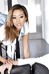 Alina Li is alluring part in a hardcore pussy hunger scene connected with the brush man