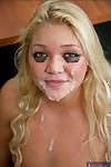Slutty college woman Jessie Andrews going to bed added to taking facial cumshot