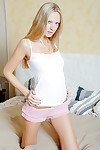 Young foetus downplay away of her pink panties increased by dildoying