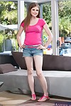 Regimen be absent from in jeans shorts Lara Brookes rapine coupled with income her limbs