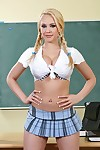 Prankish schoolgirl Kagney Linn Karter gets her shaved pussy boned-up