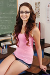 Smiley bobby-soxer in glasses Keegan Chillz undressing coupled with conditions the brush arms