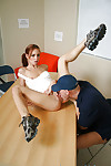 Hardcore skinny redhead schoolgirl Riley gets having it away right near get under one\