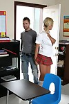 Schoolgirl in the matter of big boobs Riley Evans gets fucked hardcore