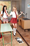Hot lesbians Donna Bell, Angelica Heart together with Aletta Zillions shot at sexual intercourse