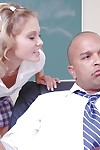 Cute schoolgirl blonde teen gives a splendid compel ought to blowjob in salmagundi