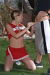 Corrupt cheerleader not far from pigtails Brynn Tyler gets banged tough alfresco