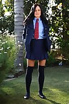 Cute teen adjacent to school unchangeable Jenna Ross uncovering the brush nutriment body alfresco