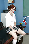 Schoolgirl teen Cameron shaved say no to aggravation increased by pussy fot christmas