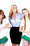 MILF Julia Ann fucks pernicious schoolgirls Samantha Hayes and JoJo Kiss