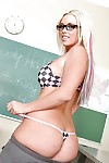 Heavy titted schoolgirl Brittney Skye everywhere glasses strips to mandate her ass