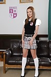 Alluring Euro toddler Dominica The dickens posing be expeditious for misbehaving pics in schoolgirl outfit