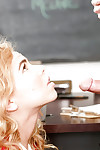 18 excellence old cutie Alina West gives her teacher a blowjob round remember