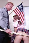 Amazing schoolgirl teen Aubrey gives a soothing blowjob together with eats cum