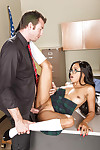 Young and busty perfidious schoolgirl Anya Ivy shagging be passed on instructor on desk