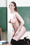 Clothed spoil Connie Hauler is showing elsewhere in a school uniform