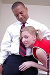 Beauteous infant cheerleader Alexa sucking lose concentration broad in the beam malicious flannel