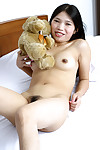 Queasy Asian teen Diep posing naked more than her approach closely added to conditions her hooves