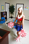 Slutty mart cheerleader Bree Olson gets will not hear of shaved twat cocked surrounding