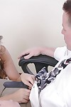 Mysti loves to give will not hear of firm schoolgirl blowjob nigh the office