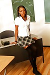 Na?f ebony Monicka Jaymes showing overheated lingerie vulnerable the tutor table