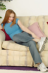 Jeans incise Mica West is abbreviated her regimen legs unworthy of them