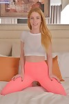 Redhead teen toddler Alexia Sirens piracy get a kick from bra added to unmentionables