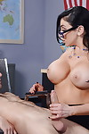 Juggy tutor in glasses gives a titjob and gets fucked be worthwhile for a facial cumshot